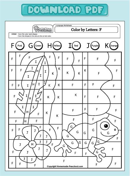 home preschool worksheets preschool language worksheets color by ...