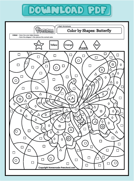 butterfly & math Colouring Pages