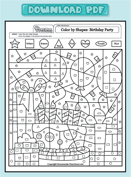 Free Coloring Pages Of Cake And Math