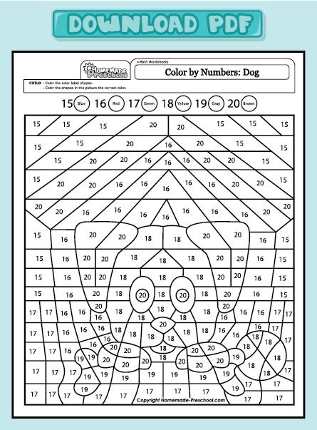Free Worksheets math for nursery worksheets : Fun and Interactive Preschool Worksheets