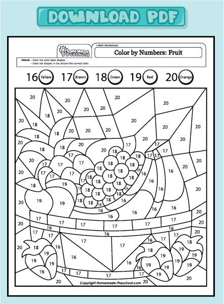 Christmas Coloring Math Worksheets Fractions In Addition Preschool ...