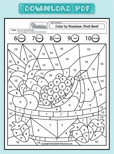 Fruit And Vegetable Worksheets For Preschool for Pinterest