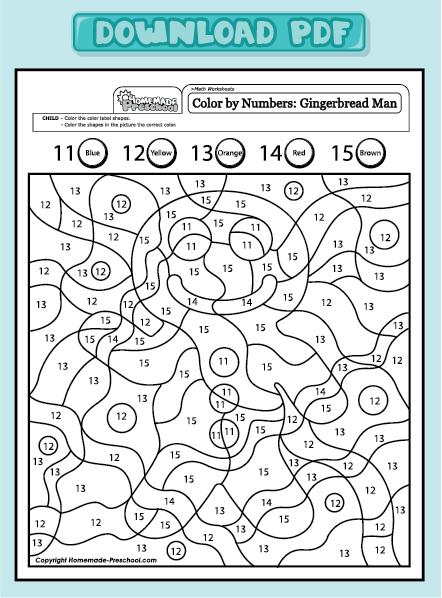 home preschool worksheets preschool math worksheets color by numbers ...