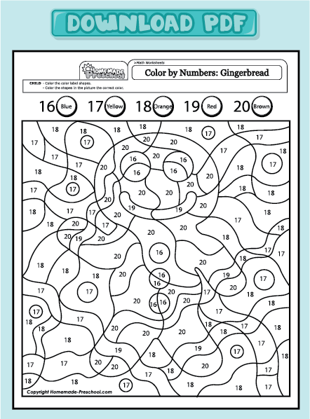Gingerbread Man Math Sheets | Search Results | Calendar 2015