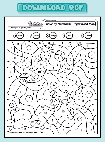 Number Names Worksheets : math color by numbers ~ Free Printable ...
