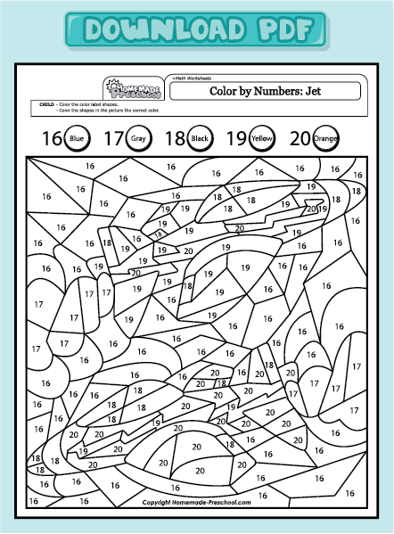 Math Coloring Pages Pdf : Free math color pages page search results calendar