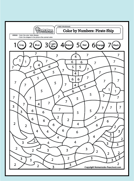 Fun and interactive preschool worksheets for Pirate coloring pages for preschool