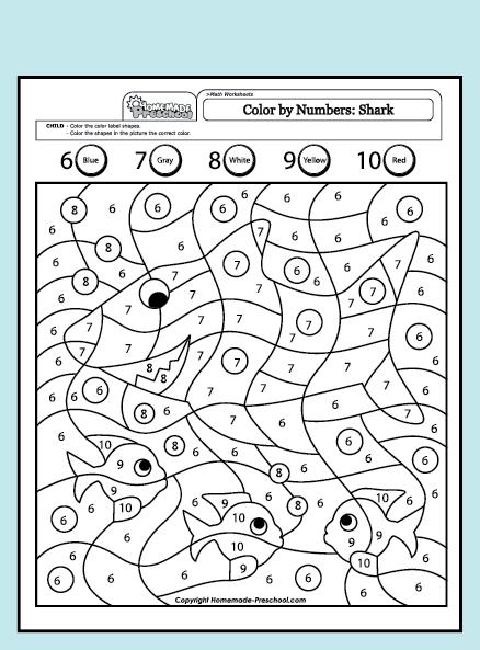 Coloring Worksheets For Kindergarten Pdf