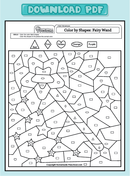 shape activity worksheet heart learn shape and color worksheets