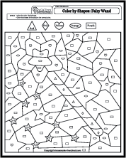 shapes coloring by numbers worksheets coloring pages. Black Bedroom Furniture Sets. Home Design Ideas
