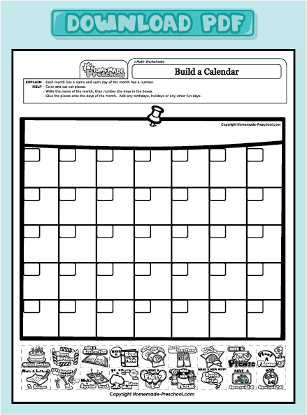 Calendar Worksheet Pdf : Fun and interactive preschool worksheets