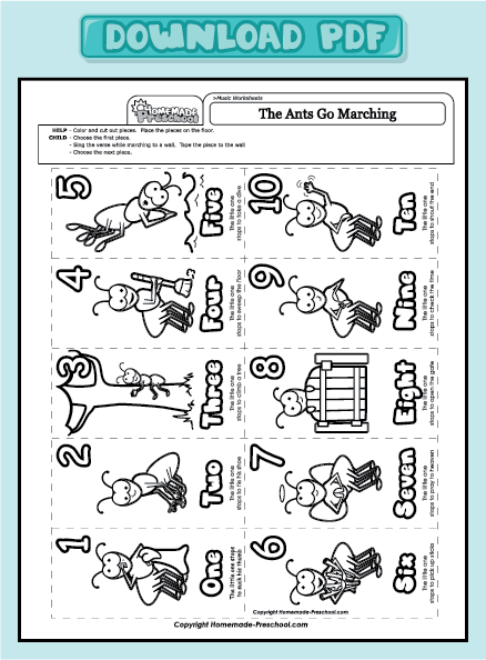 ants go marching coloring pages - photo#6