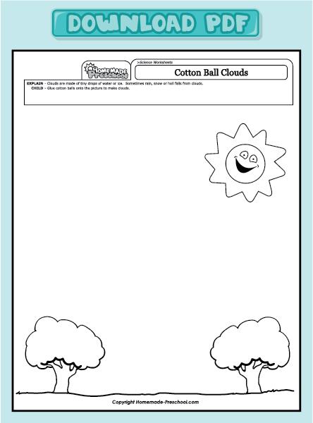 Cloud worksheets pdf