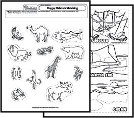 Animal Habitat Worksheets For Kindergarten Together With 1st Grade ...