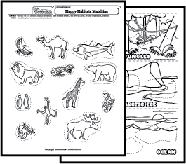 ... Worksheets further Kindergarten Animal Habitat Worksheets. on mammal