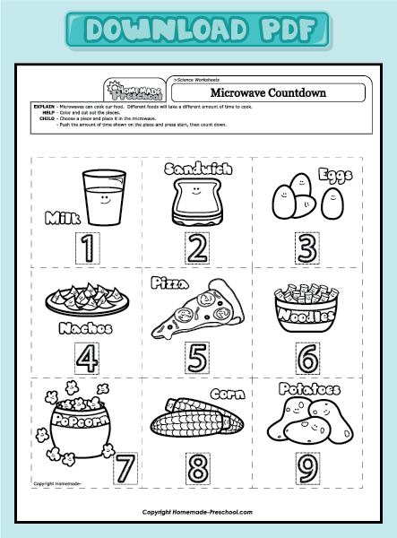 Preschool Science Worksheets Worksheets For Preschoolers