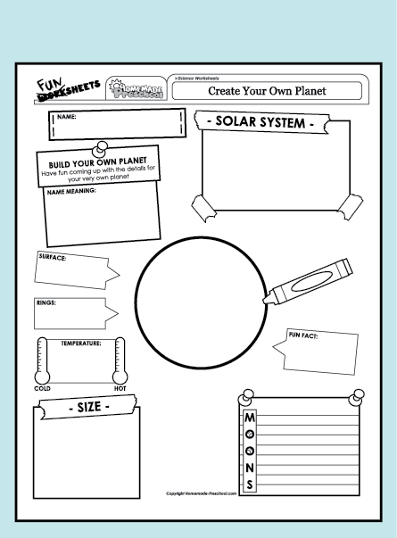 Create Your Own Worksheets : Fun and interactive preschool worksheets