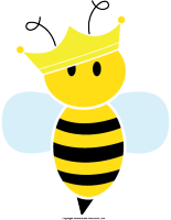 free bee clipart rh homemade preschool com Queen Bee Cartoon queen bee clipart images