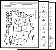 Map Worksheets - Map of the us worksheet
