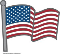 free american flags clipart rh homemade preschool com American Flag Waving Clip Art American Flag Eagle Clip Art
