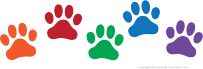 free paw prints clipart rh homemade preschool com dog paws clipart black and white dog paw clipart png
