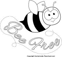 honey bee drawing clip art