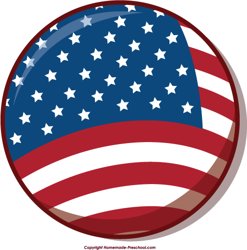 Free American Flag Clip Art - Synkee