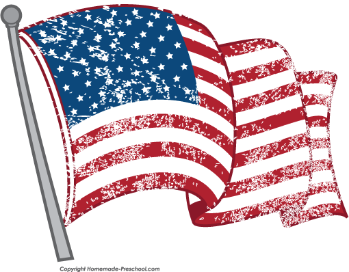free american flags clipart rh homemade preschool com clip art american flag with thank you clip art american flag background