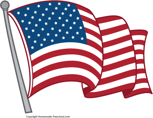 free american flags clipart rh homemade preschool com