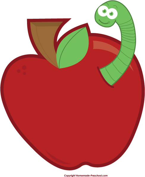 clipart apple worm - photo #5