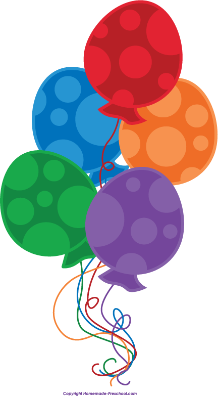 free birthday balloons clipart rh homemade preschool com birthday balloons clipart png birthday balloon clip art free images