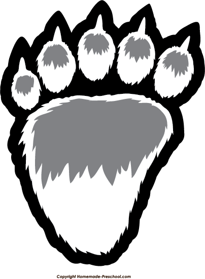 Clip Art Bear Paw Clip Art free paw prints clipart click to save image bear prints