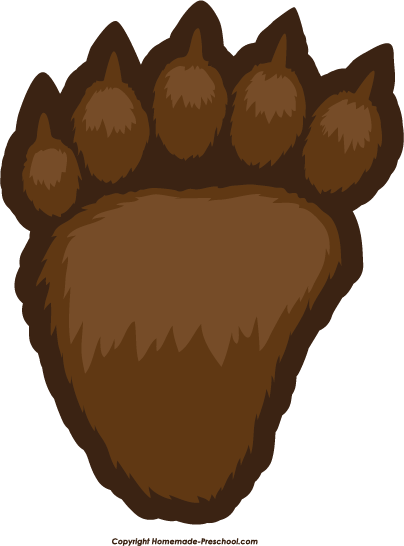 bear footprints template free paw prints clipart
