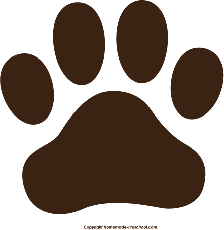 free paw prints clipart rh homemade preschool com paw print clip art black and white paw print clip art images