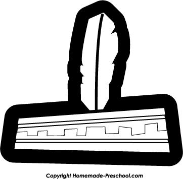 Headband clipart black and white