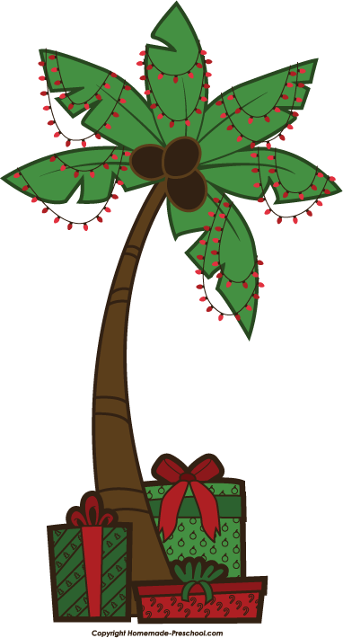 click to save image - Palm Tree Christmas Tree