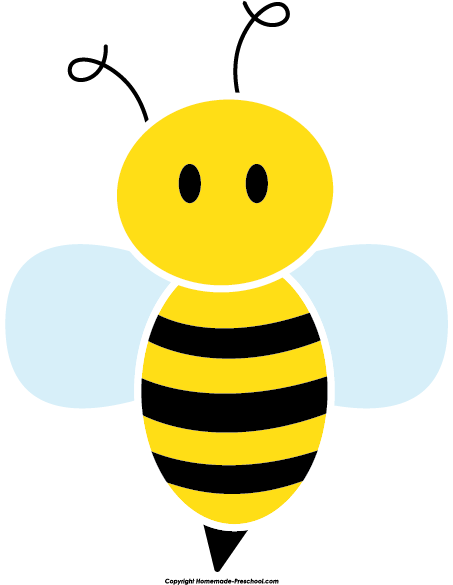 free bee clipart rh homemade preschool com bee clip art heart bee clipart images