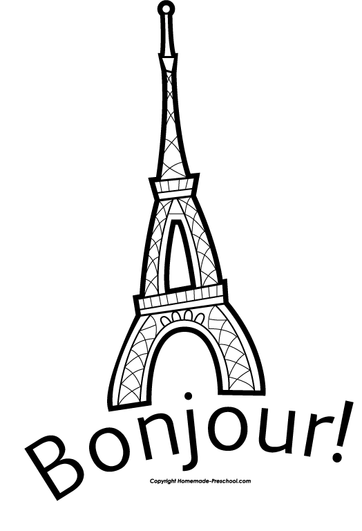 Eiffel tower french. Free clipart