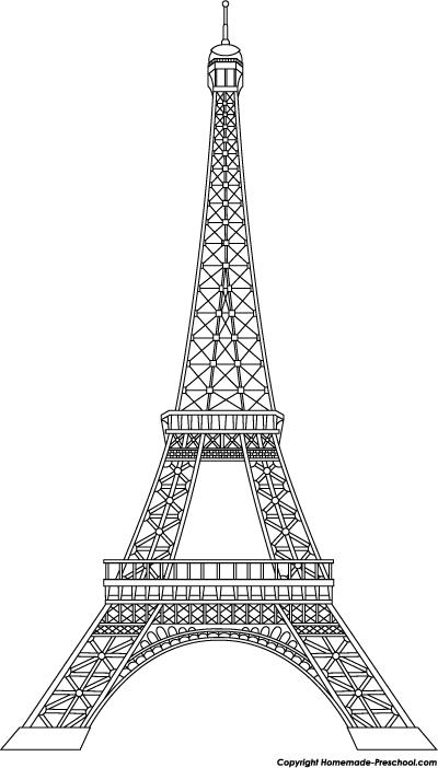 Line Art Eiffel Tower : Free eiffel tower clipart