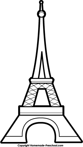 Clip Art Eiffel Tower Clipart free eiffel tower clipart click to save image hat