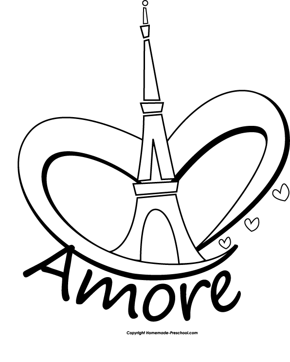 click to save image eiffel tower bag - Paris Eiffel Tower Coloring Pages