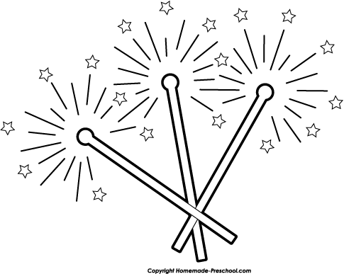 Clip Art For Liturgical Year Fireworks Sparkler Download - Clip Art Library