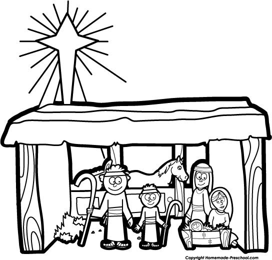Nativity white. Free clipart