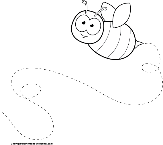 bee flying clipart