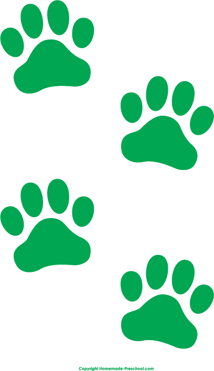 free paw prints clipart rh homemade preschool com small dog print clip art dog paw print clip art black and white