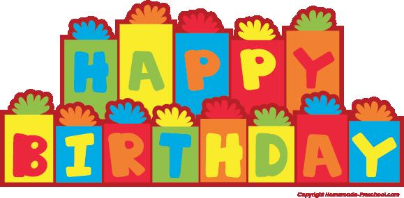 happy birthday clipart rh homemade preschool com birthday free clipart images birthday images clipart stationary
