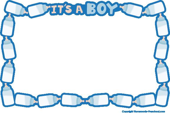 free clip art borders baby boy - photo #26