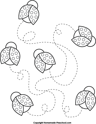 flying ladybugs coloring pages - photo#44