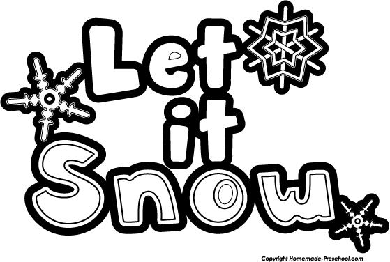 Let It Snow Clip Art Cliparts