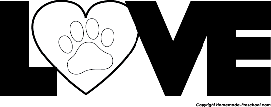 free paw prints clipart rh homemade preschool com free clipart of dog paw prints dog paw print clip art black and white